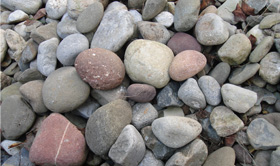 Landscaping building materials soils mulches stone for Smooth river rocks for landscaping